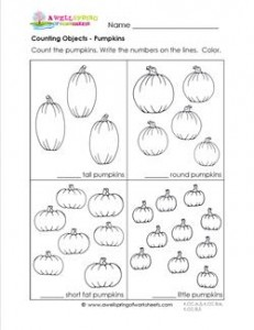 counting to 10 pumpkins kindergarten counting a wellspring. Black Bedroom Furniture Sets. Home Design Ideas