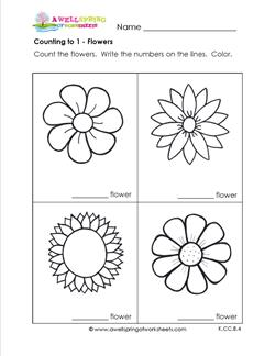 Counting to 1 - Flowers