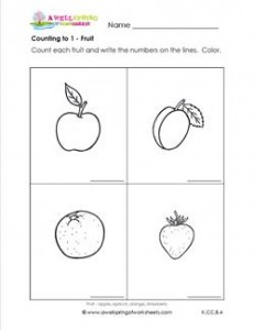 Counting to 1 - Fruit