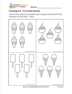 Counting to 5 - Ice Cream