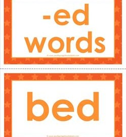 cvc word cards -ed words