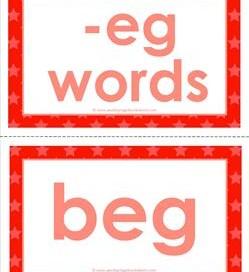 cvc word cards -eg words