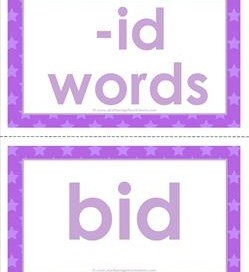 cvc word cards -id words