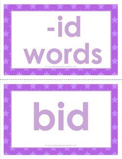 cvc word cards -id words