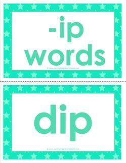 cvc word cards -ip words