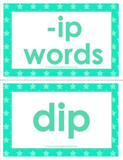 cvc word cards -ip words