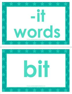 cvc word cards -it words