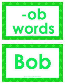 cvc word cards - ob words