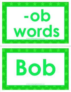 cvc word cards - ob words