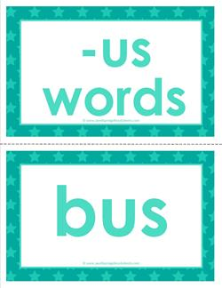 cvc word cards -us words