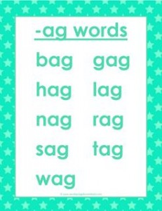 cvc words list -ag words