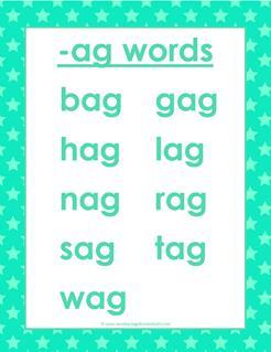 cvc words list -ag words
