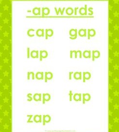 cvc words list -ap words