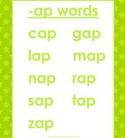 cvc words list -ap words