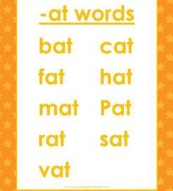 cvc words list -at words