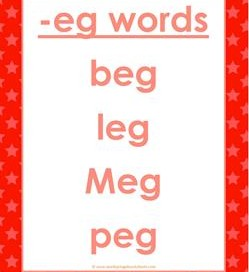 cvc words list -eg words
