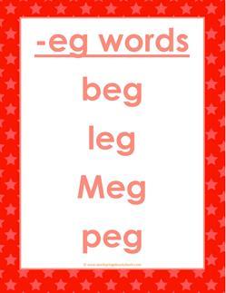 cvc words list -eg words