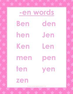 cvc words list -en words