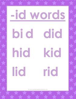 cvc words list -id words