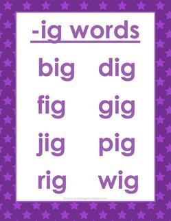cvc words list -ig words
