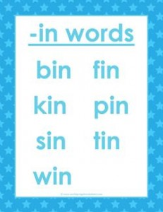 cvc words list -in words - in word family - kindergarten phonics, cvc words