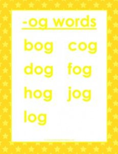 cvc words list -og words