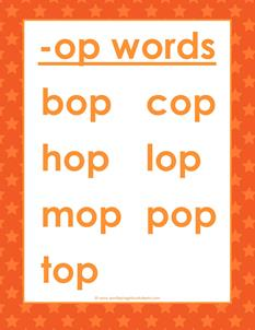 cvc words list -op words