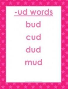 cvc words list -ud words