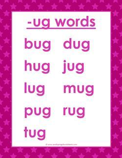 cvc words list -ug words