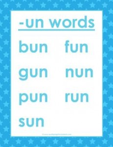 cvc words list -un words