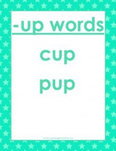 cvc words list -up words