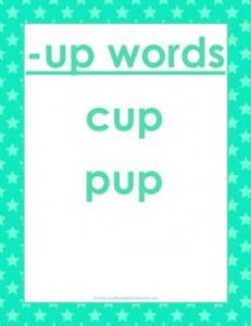 cvc words list -up words