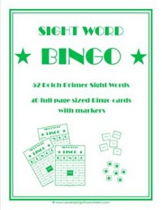 dolch sight word bingo - primer