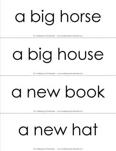 dolch sight word flash cards - phrases - black and white