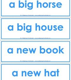 dolch sight word flash cards - phrases - color