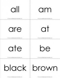 dolch sight words flash cards - primer - black and white