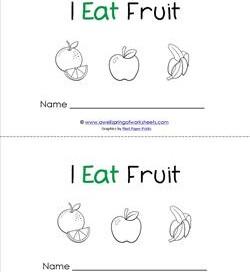 Emergent Reader - I Eat Fruit - Sight Word Book