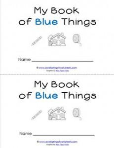 Emergent Reader - My Book of Blue Things - Sight Word Book