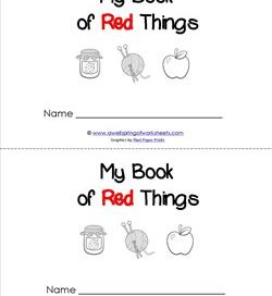 Emergent Reader - My Book of Red Things - Sight Word Book