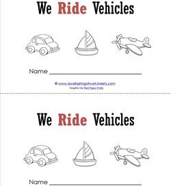 Emergent Reader - We Ride Vehicles - Sight Word Book