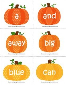 falll dolch sight word flashcards preprimer