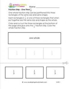 fraction strip one third