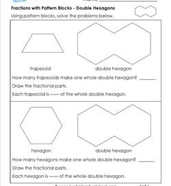 pattern block fraction worksheets math worksheets dynamically created worksheetspattern block. Black Bedroom Furniture Sets. Home Design Ideas