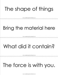 fry phrases flash cards - the fifth 100 - black and white