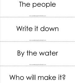 fry phrases flash cards - the first 100 - black and white
