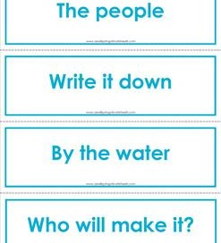 Fry phrases flash cards - the first 100 - color