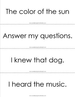 fry phrases flash cards - the fourth 100 - black and white