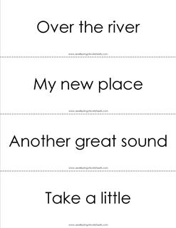 fry phrases flash cards - the second 100 - black and white