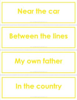 fry phrases flash cards - the third 100 - color