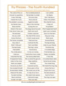 fry phrases - the fourth 100- fry instant phrases